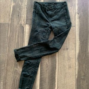 Joe's green, brown and black plaid pants.